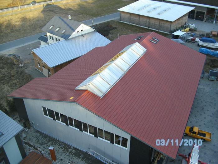 Lichtbänder Rixen Dach
